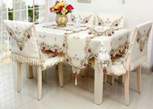 High grade quilting cloth table cloth chair cover 4 style solid color  quilted Lace embroidered tablecloths-in Tablecloths from Home & Garden on  ...