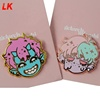 Copper hard enamel cartoon character lapel pin with custom enamel pins with backing card