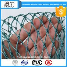 low price polyester knotless fishing net