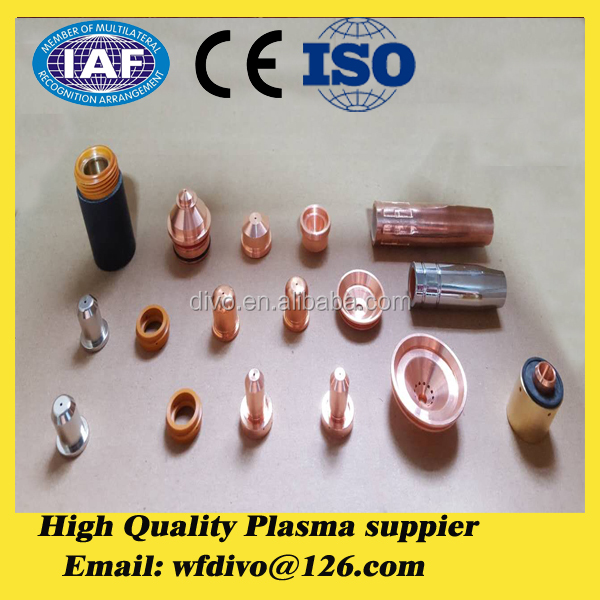 Nozzles and Electrodes AG60 SG55 60 Amp Rated Chinese Plasma Cutter Tips