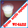 Low VOC yellow resistance acrylic emulsion for outdoor paint coating