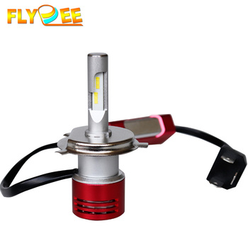 60W 8400LM Red color csp led headlight h4, car led headlight bulb h11