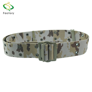 Wholesale adjustable length camouflage printed police military duty nylon belt