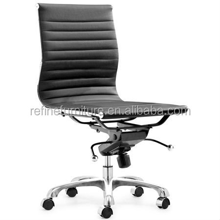 mid back modern task executive desk white office chair no arms for hotel RF-S075W