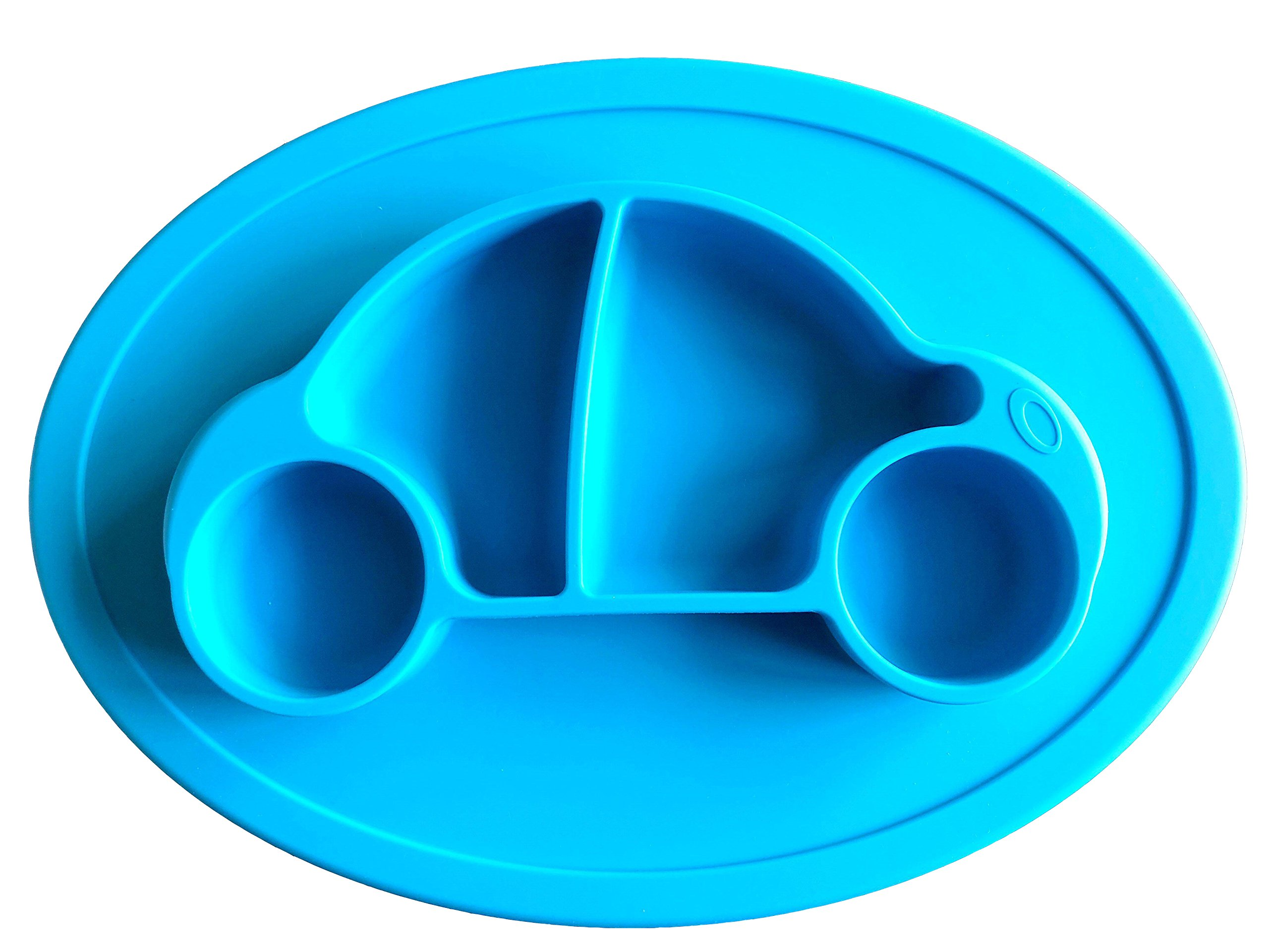 KoEiAsd Premium Silicone Suction Placemat,One-Piece Baby Plate for Babies Toddlers and Kids , Baby Table Place Mat for Toddlers,BPA-Free FDA Approved Strong Suction Plates for Toddlers11x7.8x0.9Inch