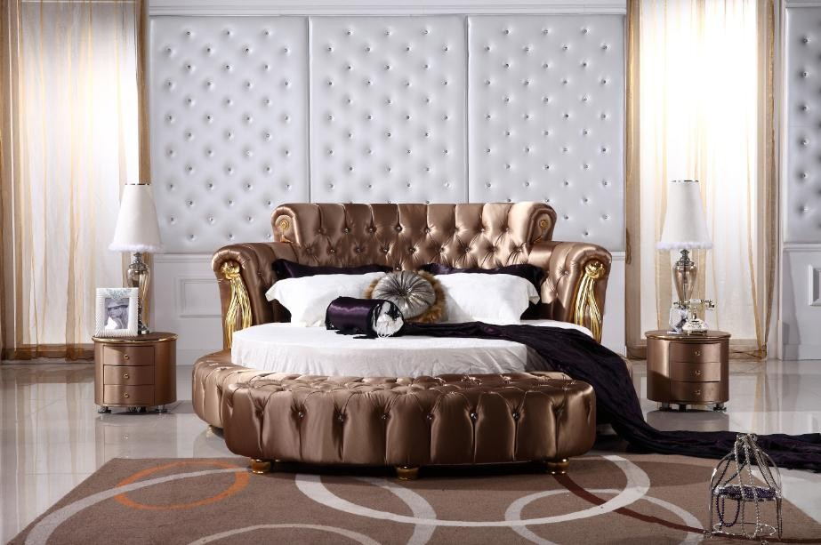 Superior Italian Leather Round Bed, Italian Leather Round Bed Suppliers And  Manufacturers At Alibaba.com