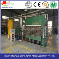 High efficiency hydraulic press 400 ton laminating line (single side) for plywood