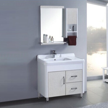 Qierao Floor Mounted Pvc Wash Basin Cabinet Bathroom Furniture Set A