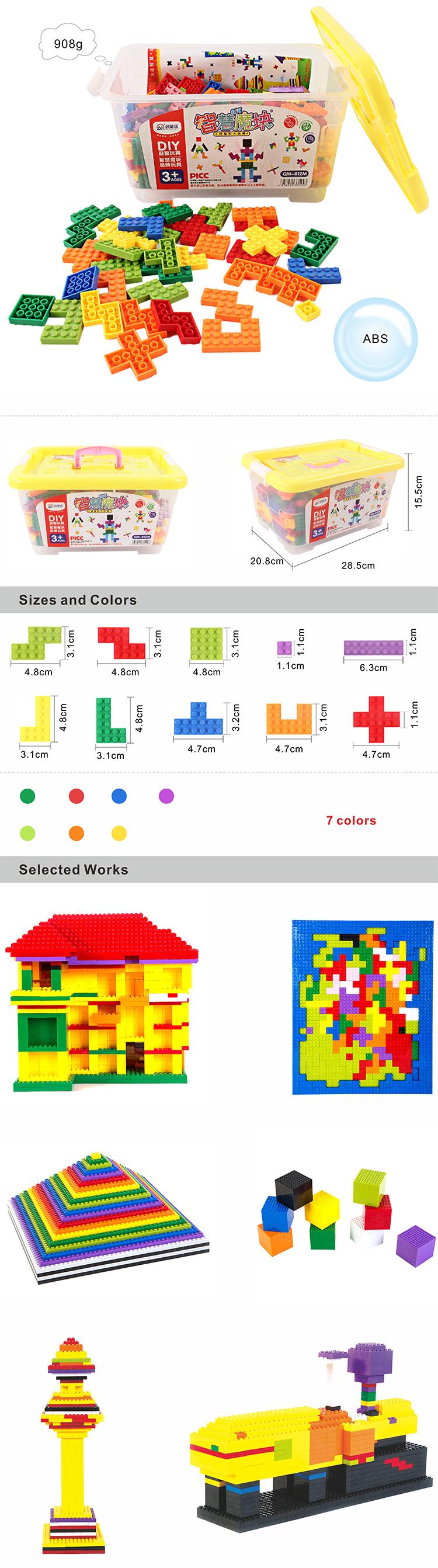 ราคาถูกที่กำหนดเองออกแบบ Tetris Intelligence Building Block เด็กโมเสคไม้ของเล่น