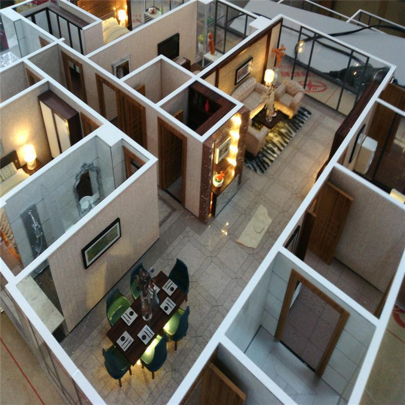 Barano Model Home Interior Design: De Alta Calidad En Miniatura Del Modelo De Escala, Modelo