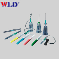 Disposable pen type surgical vacuum blood collection needle set