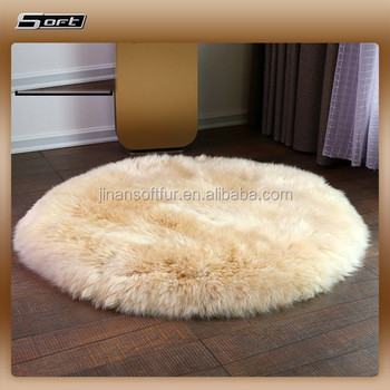 Small Sample Purchase Real Sheepskin Round Rugs 1 Piece Whole