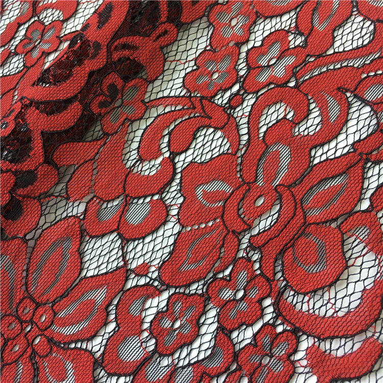 S495 China supplier latest nigerian lace styles red textile lace dress fabric