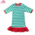 Boutique Kids Clothing Wholesale Long Sleeves Red Dress Christmas Baby Girl Cotton Ruffle Dress Design