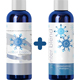 Natural Mint Shampoo and Conditioner Set for Women and Men with Pure Essential Oils for a Healthy Scalp
