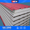100mm color wall and roof steel used EPS PIR wool and rock PU sandwich panel