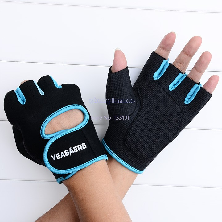 Sport Gloves For Gym: New Fitness Cycling Sport Gloves Half Finger GYM Weight