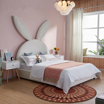 Modern Design Affordable Children Bedroom Furniture Girl Kid Bed Rabbit  Headboard Cute Bed - Buy Kid Bed,Rabbit Headboard Bed,Children Bedroom ...