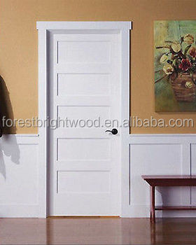 Captivating White Composite Material 5 Panel Interior Doors