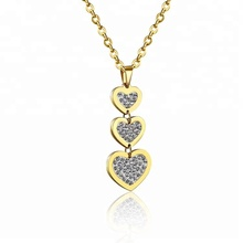 Custom Stainless Steel Pave Heart 펜 던 트
