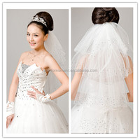 New Arrive Modest Four Layer Bridal Veils Beautiful Rhinestone Tulle Wedding Veils And Veils Mermaid Wedding Dresses
