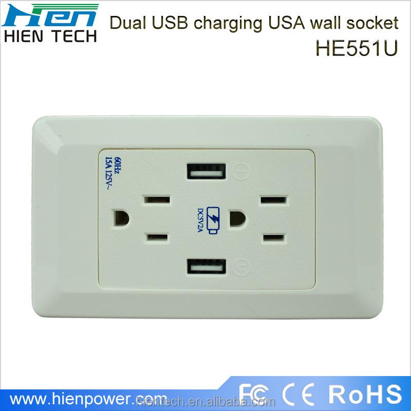 Furniture Power Outlets Us Standard Usb Wall Socket 5v2a - Buy ...