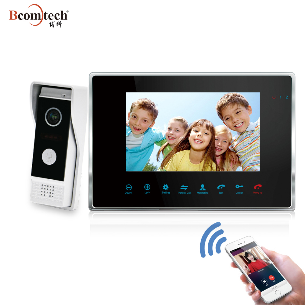 Bcomtech TCP/IP SIP 3 Apartment Remotely Unlock Video Door Phone Intercom