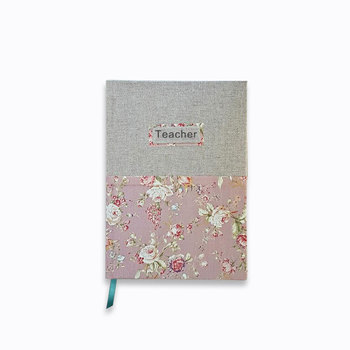 A5 Custom Design Hardcover Linen Cover Teacher Planner Book