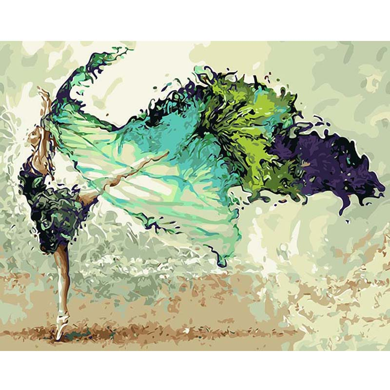 CHENISTORY DZ1002 oil paint by numbers Abstract Dancer Figure Painting Acrylic HandPainted For Home Decor Wall Art <strong>Picture</strong>