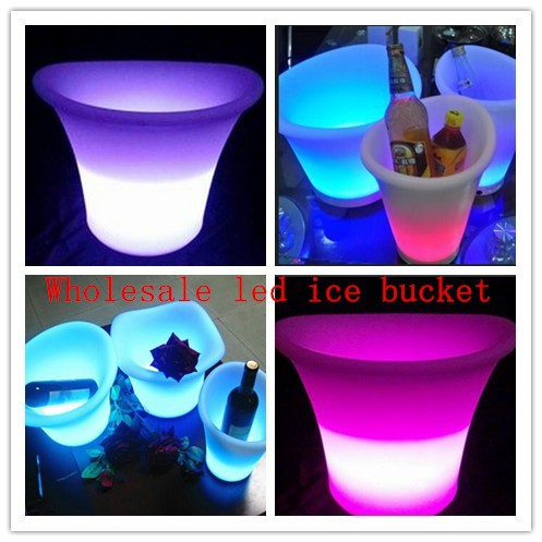 wholesale plastic rechargeable led ice bucket/ice barrel for Beer /party