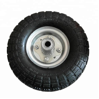 "10 inch 5 / 8 "" Axle 3.50-4 Pneumatic Steel Trolley Wheel air wheel"