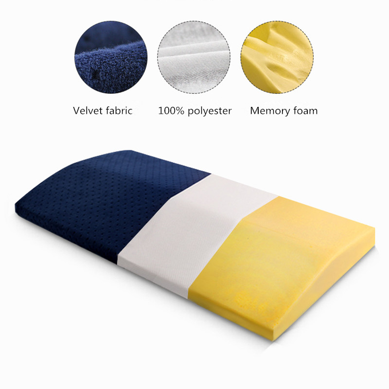 Memory Foam Medical Lower Back Lumbar Support Pillow for Sleeping Back Pain Reliefe