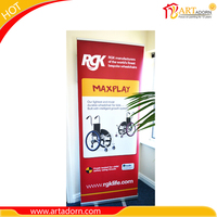 China Supplier Wholesale Advertising High Resolution Vinyl Retractable Banner Stand Pull Up Banner Stand