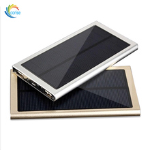 Hot Sale 10000mAh Aluminum Alloy Material 1.5W Panel Solar USB Charger