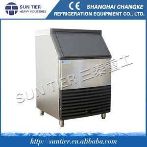 Commercial Automatic 2 Tons cube Ice Makers Machine With Ice Storage Room SUN TIER fireworks prices