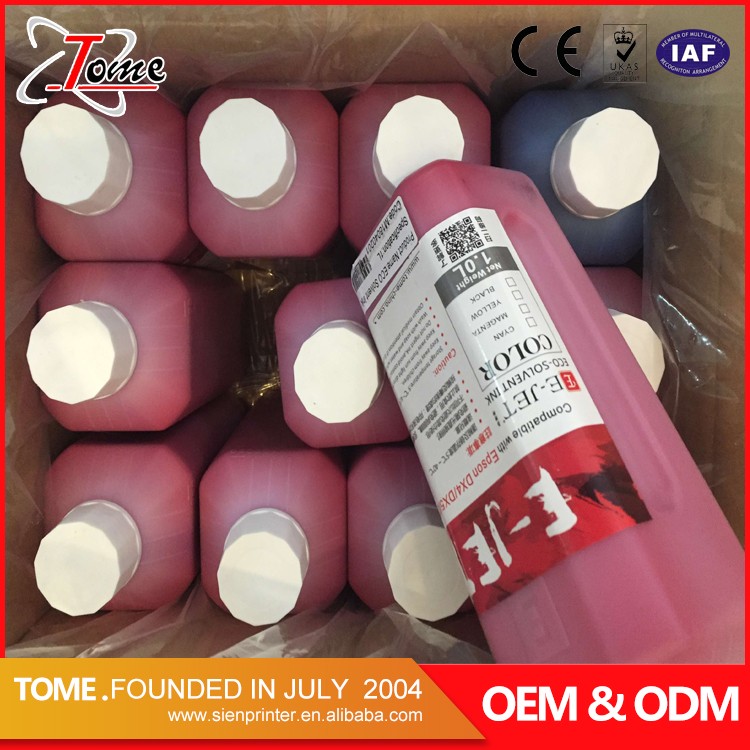 Promotion price inkjet ink DX5 eco solvent for inkjet printing machine in guangzhou