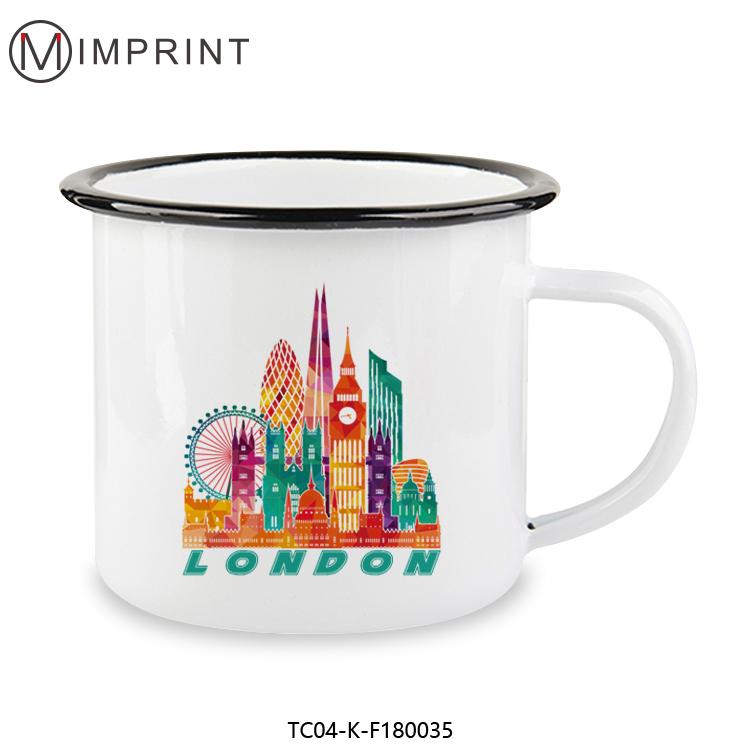 ODM/OEM sublimation print bulk enamel travel mug custom enamel cups фото