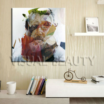 Surrealism Old Uncle Canvas Painting Frame For Home Decor,Hot New ...
