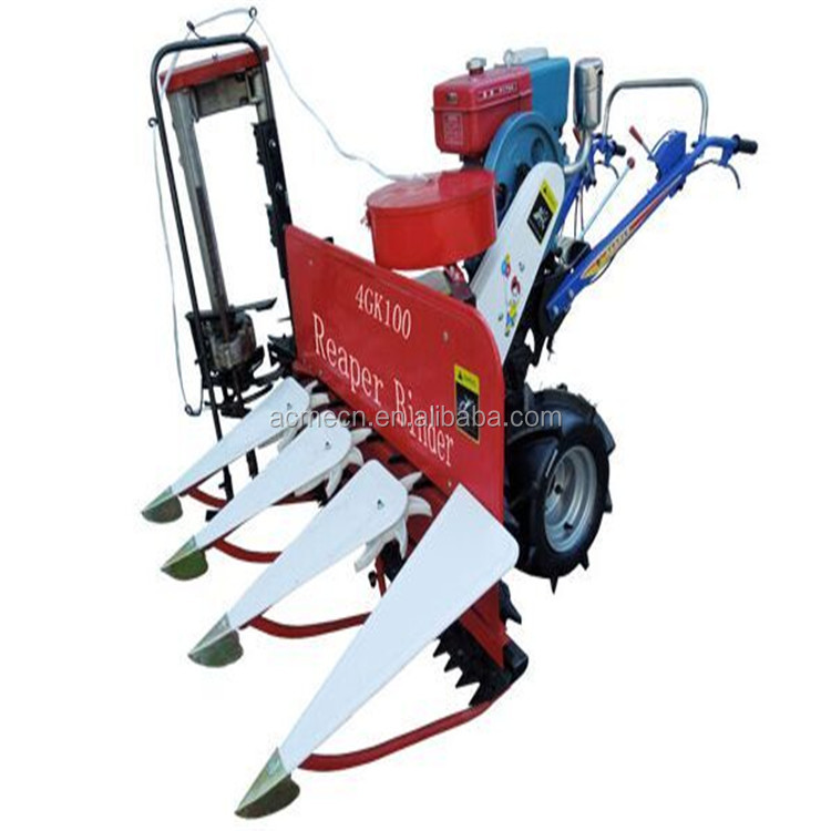 New Mini Harvester Machine Reaper Binder For Rice Paddy