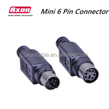 Bxon mini din 6 pin male and female solder type socket connectors bxon mini din 6 pin male and female solder type socket connectors publicscrutiny Images