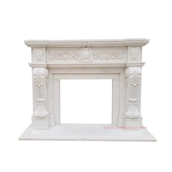 Hot sale custom stone carving products natural marble fireplace Mantel