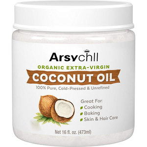 Pouch travel size multi -function organic cold pressed coconut oil