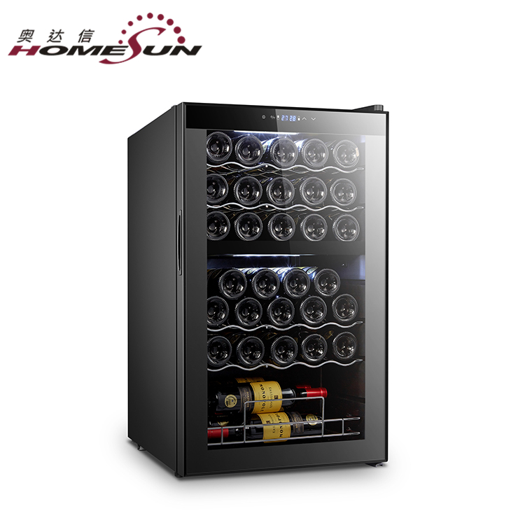 Custom Horizontal Dual Temp Zone Compressor Peltier Wine Cooler