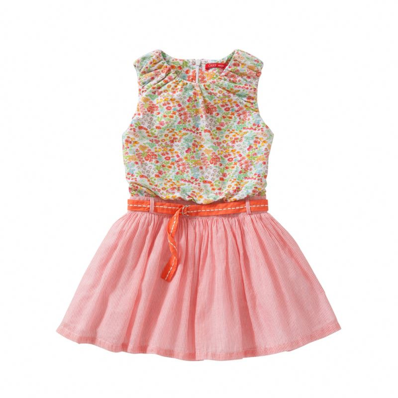 New Summer Clothing Baby Girl Printed Flower Child Dress