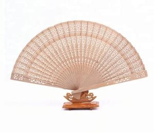 Gold Color Wooden Fan Wedding/Personalized Folding Hand Fan With Gift Organza Bag