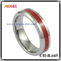 4mm shinny tungsten carbide ring red carbon fibre blank ring for inlay