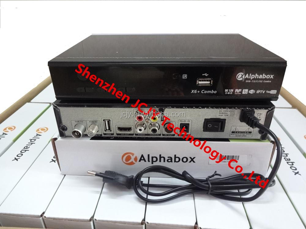 2017 newest Alphabox X6+ Combo Auto roll powervu DVB-T2/C/S2 Combo