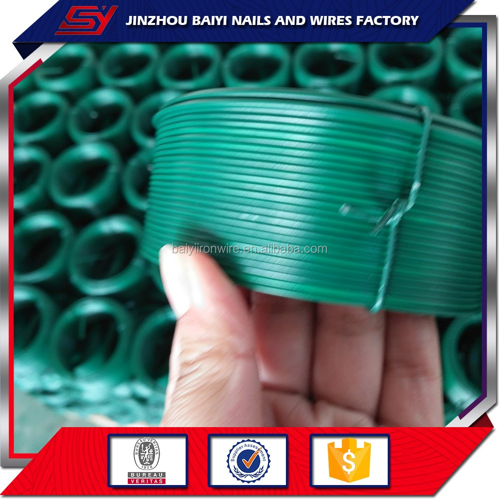 Manufacturing pvc coated steel plastic iron wire with good price