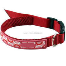 beautiful pet collars with nylon material for dogs