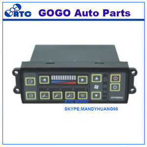 GOGO High quality excavator aircon control panel Hyundai-7 air conditioner parts